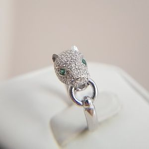 Tiger Silver Engagement Ring Band size 6